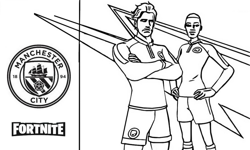 Coloriage Manchester City - Fortnite Football