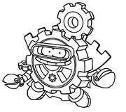 Coloriage Cyber Fighters 497 Solid Gear