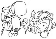 Coloriage Ironhead vs Coink