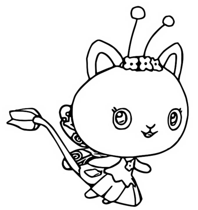 Coloriage Kitty Fairy - Gabby et La Maison Magique