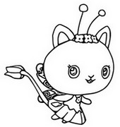 Coloriage Kitty Fairy