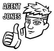 Coloriage Icone Agent Jones