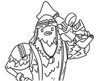 Coloriage Pioupiou - Avec son arme