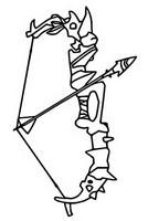 Coloriage Arc avec une flèche