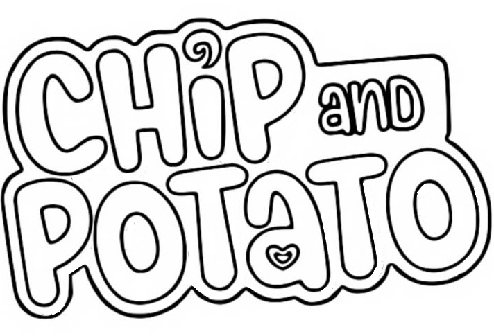 Coloriage Logo - Chip et Patate