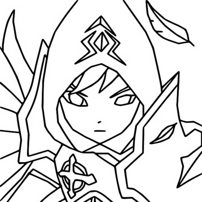 Coloriage Artamiel (Lumière) - Summoners War Lost Centuria