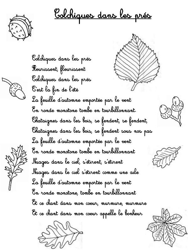 1000 images about poeme on pinterest - Colchique dans les pres ...