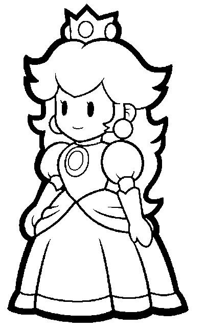 Coloriage Princesse De Mario.Coloriage Super Mario Princesse Peach 10