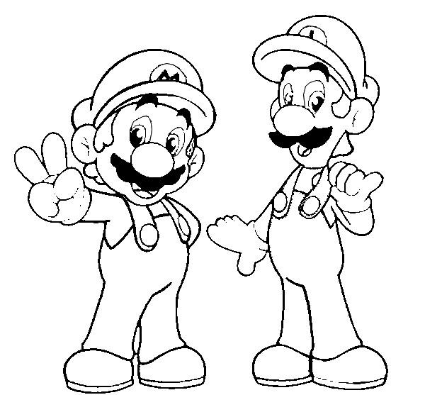 Großartig Super Mario Und Luigi Ausmalbilder Bilder - Beispiel ...