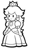 Coloriage Princesse Peach
