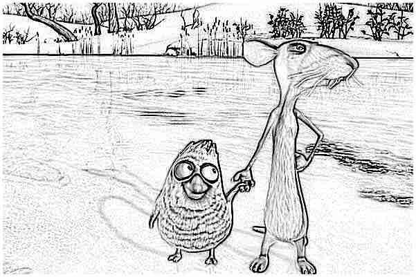 Coloriage le vilain petit canard et moi 4 - Coloriage vilain petit canard ...