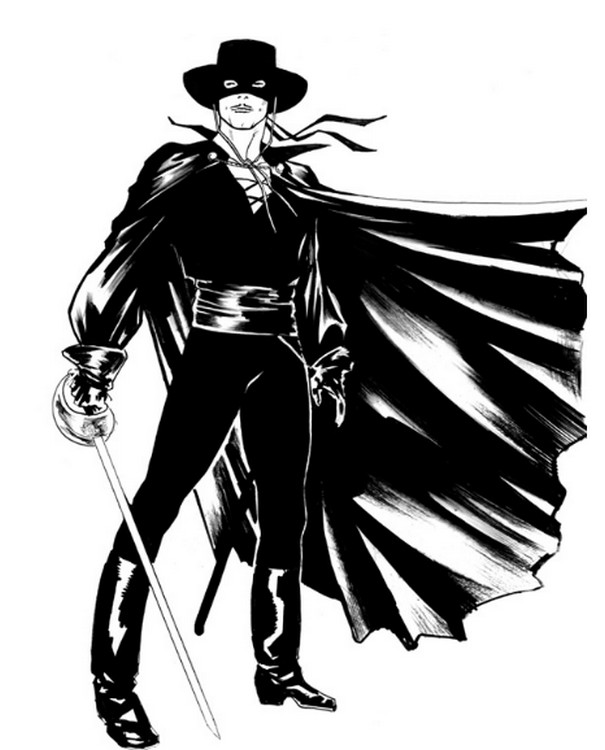 Coloriage Zorro.Coloriage Zorro 3