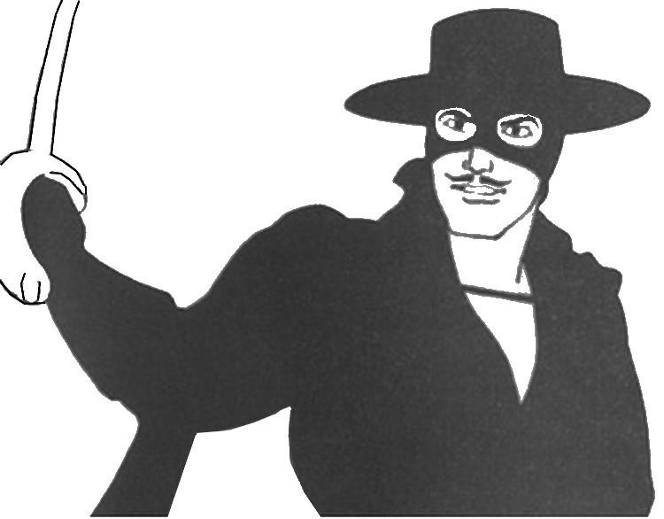Coloriage Zorro.Coloriage Zorro 6