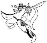 Coloriage Zorro