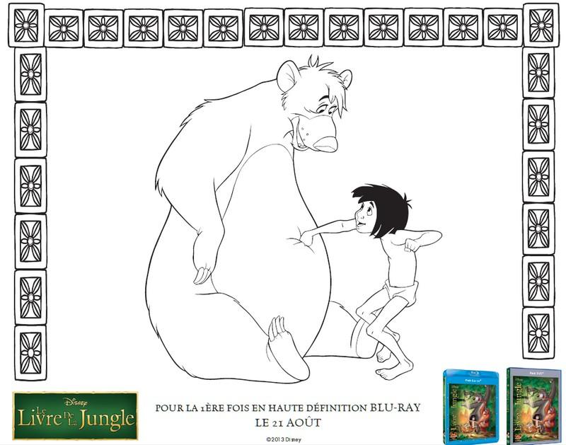 Coloriage Le Livre De La Jungle Baloo Et Mowgli 4