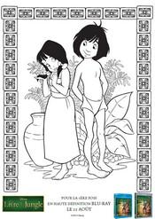 Coloriage Mowgli et son amie