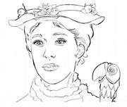 Coloriage Mary Poppins