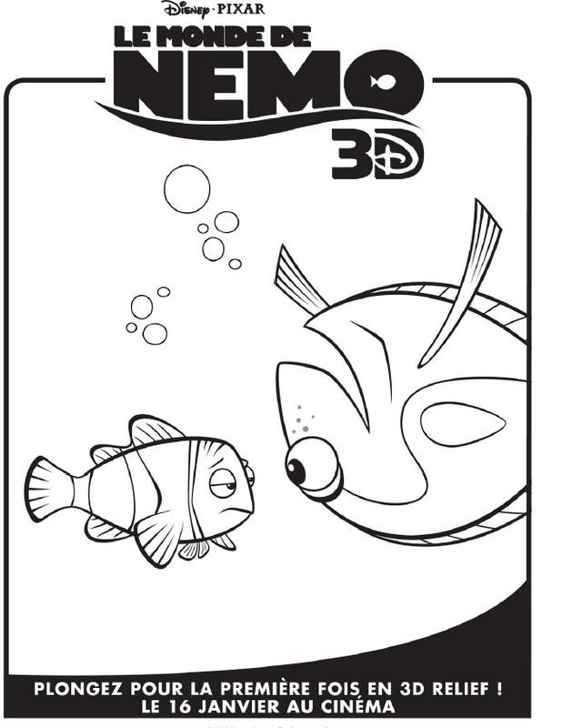 Coloriage le monde de nemo 9 - Coloriage le monde de nemo ...
