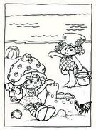Coloriage Charlotte à la plage