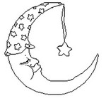 Coloriage Lune et son bonnet de nuit