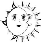Coloriage Lune et Soleil