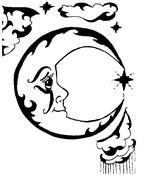 Coloriage Lune stylisée