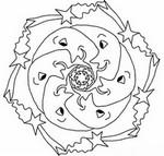 Coloriage Mandala Lune