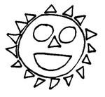 Coloriage Soleil dessin enfant
