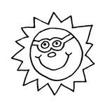 Coloriage Soleil à lunettes