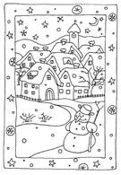 Coloriage Il neige