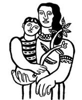Coloriage Fernand Léger: La mère et l'enfant