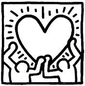 Coloriage Keith Haring: coeur