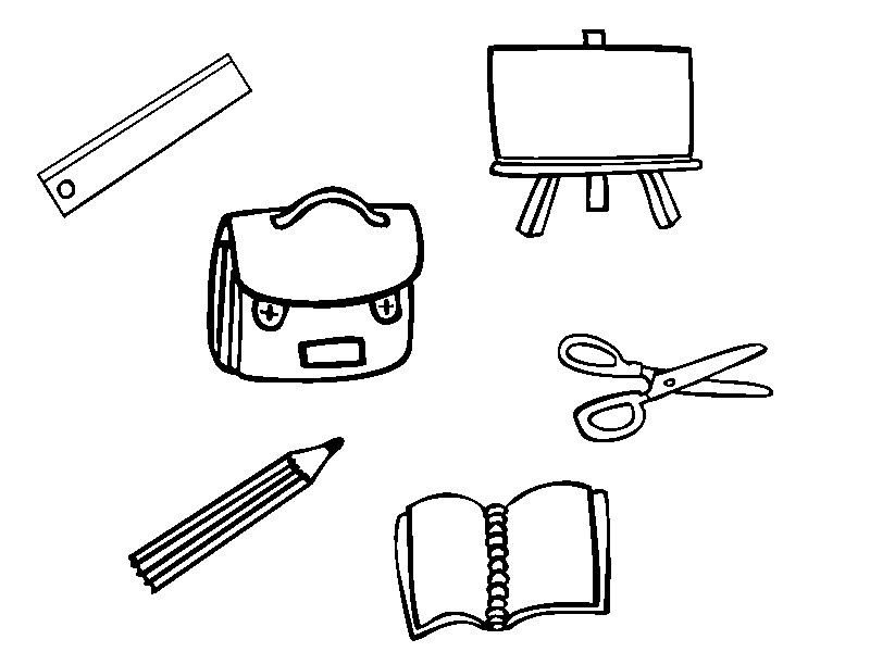 Coloriage Ecole Fournitures Scolaires.Coloriage Ecole Fournitures Scolaires Fournitures Scolaires 8