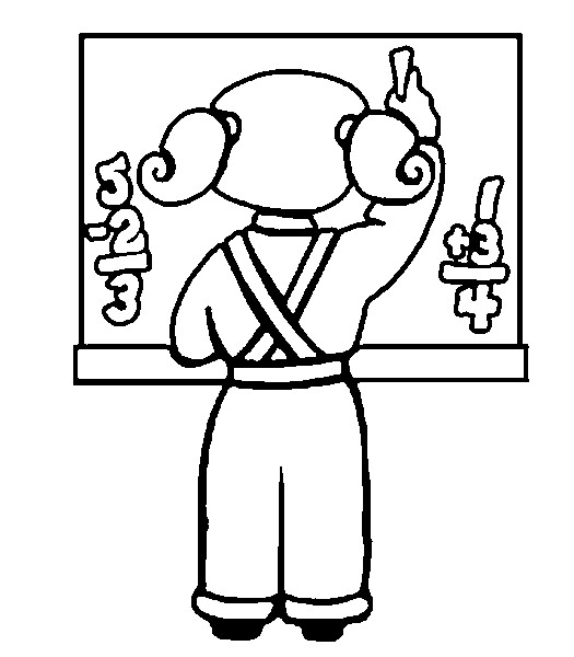 Coloriage Ecole Fournitures Scolaires.Coloriage Ecole Fournitures Scolaires Ecoliere Au Tableau 9