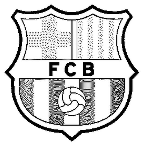 Coloriage Football Ecusson Fc Barcelone 17