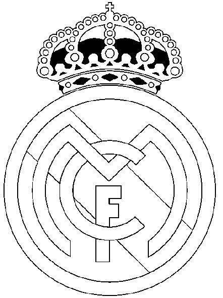 Coloriage Football : Ecusson Real Madrid 24