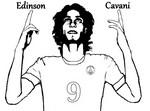 Coloriage Edinson Cavani