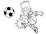 Coloriage Foot - Simpsons