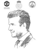 Coloriage David Beckham