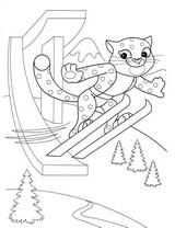Coloriage Saut à ski