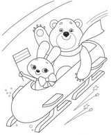 Coloriage Bobsleigh