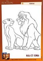 Coloriage Coloriage Simba et Nala