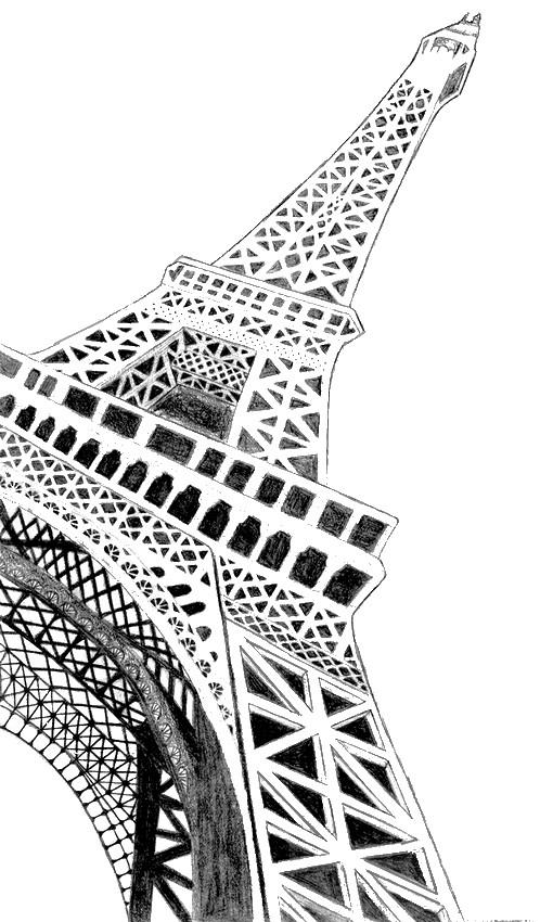 Coloriage Europe Paris La Tour Eiffel 1