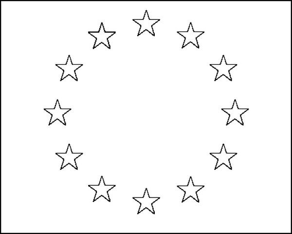 Coloriage Europe Drapeau Union Européenne 4
