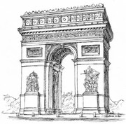 Coloriage Paris - Arc de Triomphe