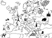Coloriage L'Europe et ses voisins