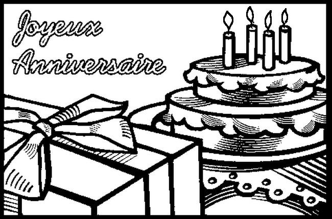 joyeux anniversaire - Coloriage Anniversaire