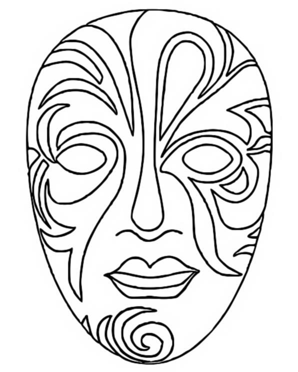 Coloriage Carnaval Masque 3