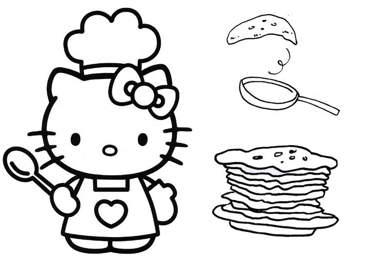 Coloriage Chandeleur Chandeleur Hello Kitty 5