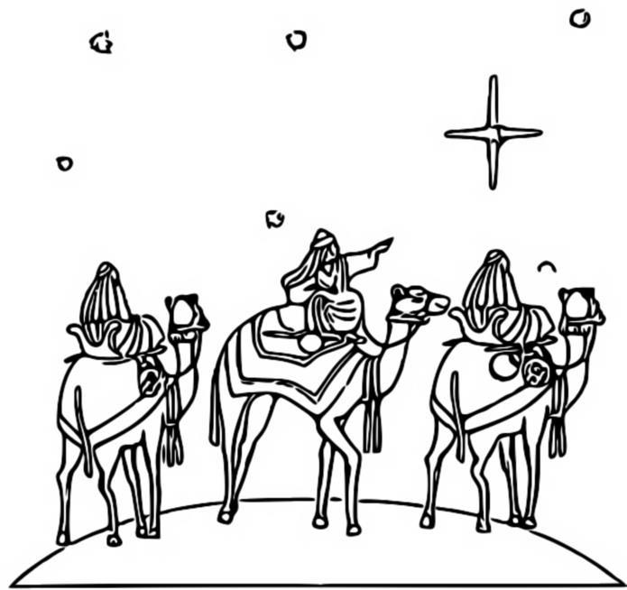 Comment dessiner des rois mages - Dessiner un chameau ...